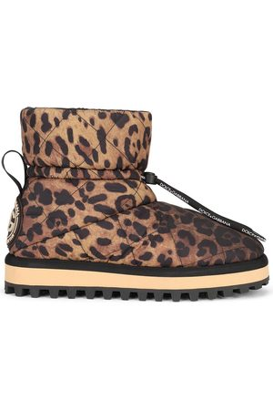 Dolce & Gabbana City leopard-print ankle boots