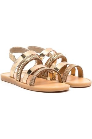 Babywalker Embellished metallic strappy sandals