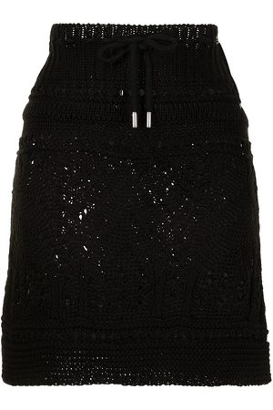 GOEN.J Ribbed crochet-knit mini skirt