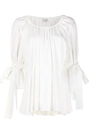 GOEN.J Pleated peplum blouse