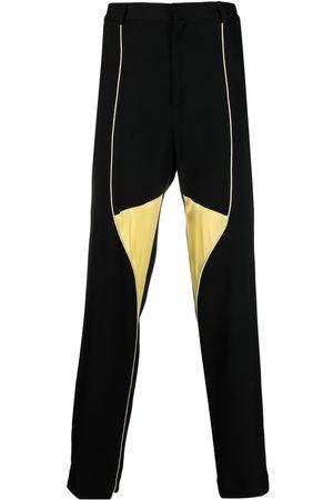 WALES BONNER Colour-block straight trousers