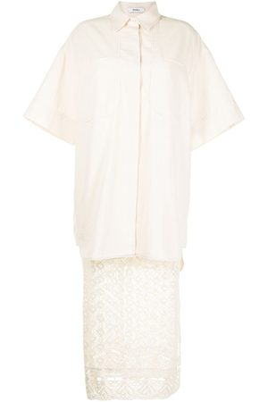 GOEN.J Oversized crochet-lace skirt set - Neutrals