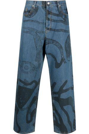 Kenzo K-Tiger wide-leg jeans