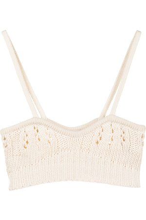 GOEN.J Crochet-knit bra - Neutrals