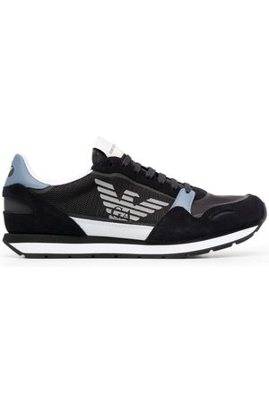 Emporio Armani Men Sneakers - Side logo-print sneakers