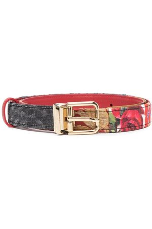 Dolce & Gabbana Rose-print belt