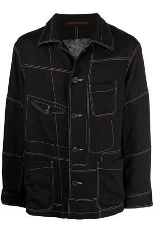 ZIGGY CHEN Contrast-stitching denim jacket
