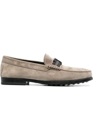 Tod's T plaque loafers - Neutrals