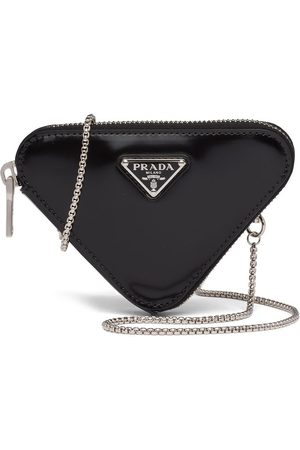 Prada Brushed-leather minipouch