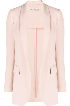 BLANCA Shawl lapel tailored blazer - Neutrals
