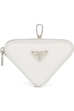 Prada Women Wallets - Brushed-leather triangle mini-pouch