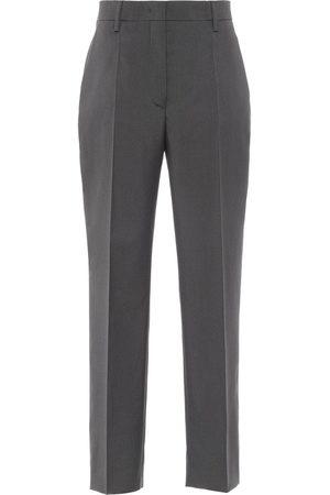 Prada Straight-leg wool trousers - Grey