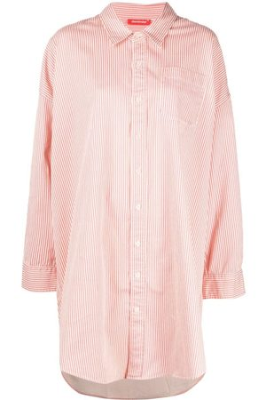 Denimist Button pinstripe shirtdress