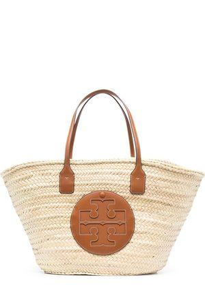 Tory Burch Ella woven beach bag - Neutrals