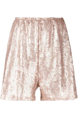Alchemy Lia sequinned wide-leg shorts