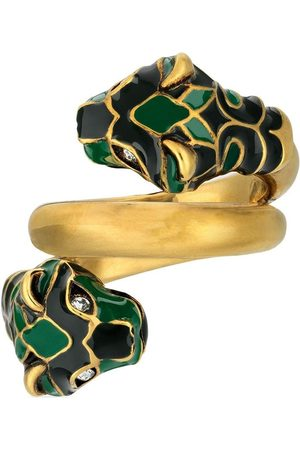 Gucci Double-panther head ring