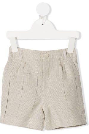 Fendi Shorts - Mini-check elasticated shorts - Neutrals