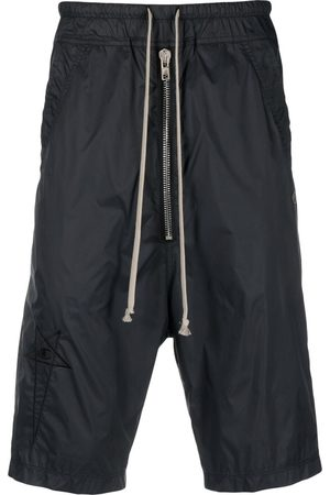Rick Owens Logo-embroidered shell shorts