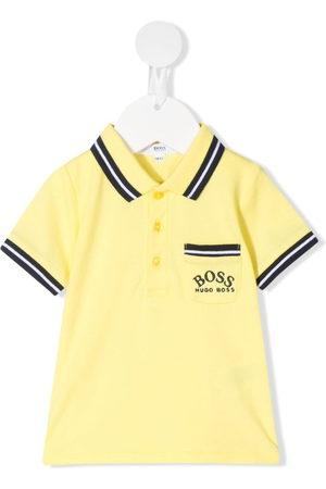 HUGO BOSS Stripe trim polo shirt
