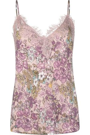 Gold Hawk Floral-print camisole