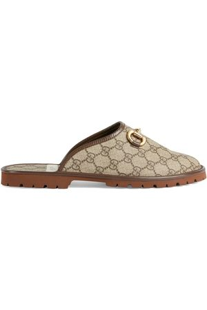 Gucci GG monogram horsebit-detail slippers - Neutrals