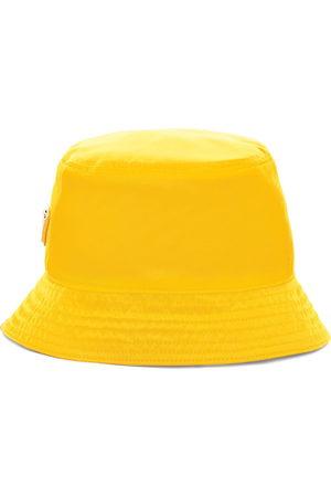 Prada Re-Nylon triangle logo bucket hat