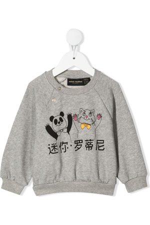 Mini Rodini Panda and cat-print sweatshirt - Grey