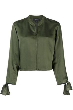 THEORY Collarless shirt jacket