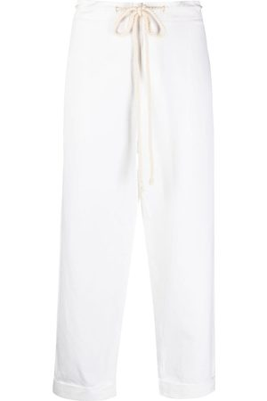 SARA LANZI Rope-detail drawstring trousers - Neutrals