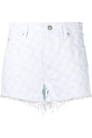 Alexander Wang Gingham check denim shorts