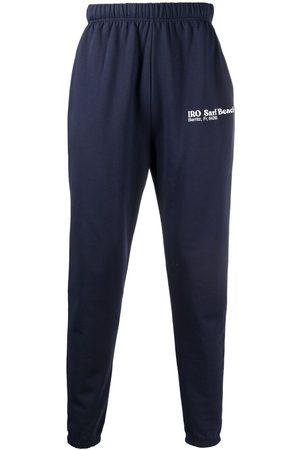 IRO Straight-leg cotton track pants