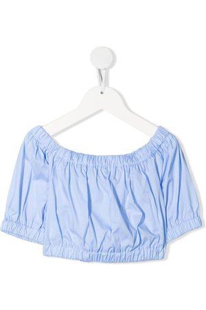 Piccola Ludo Short puff-sleeve blouse