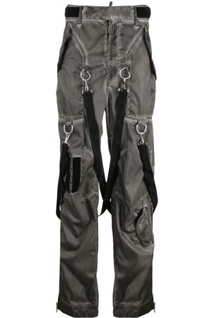 Dsquared2 Washed-effect Commander trousers - Grey