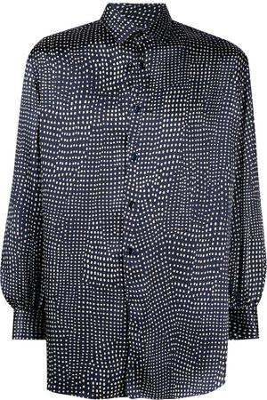 Saint Laurent Spot-print long-sleeve shirt