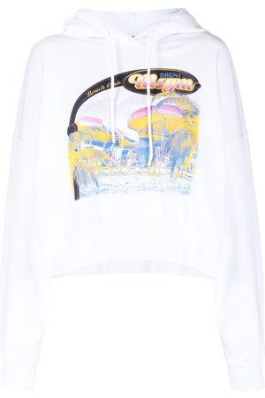 Msgm Beach-print hoodie