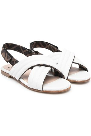 Fendi Crossover-strap sandals