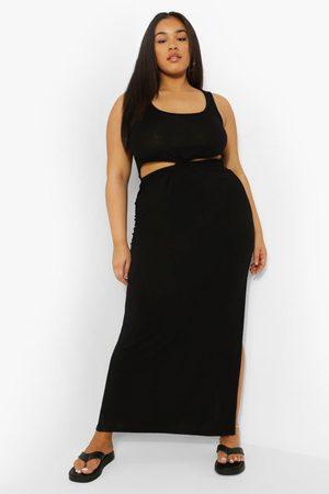 Boohoo Womens Plus Cut Out Twist Front Maxi Dress - - 12