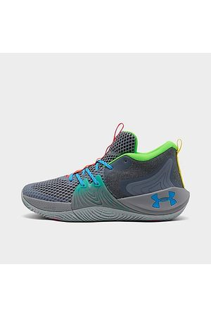 Under Armour Men Basketball - Embiid One Gamer Night Basketball Shoes in Grey/Grey Size 7.5