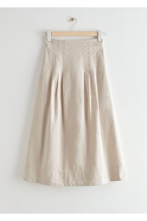 & OTHER STORIES High Waist Midi Skirt