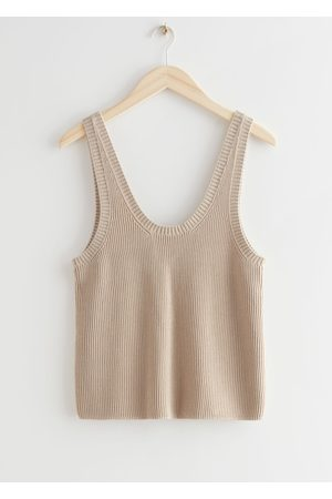 & OTHER STORIES Women Tank Tops - Ribbed Knit Tank Top