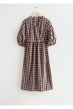 & OTHER STORIES Relaxed Checkered Midi Wrap Dress