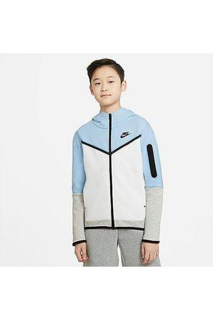 Nike Boys' Sportswear Tech Fleece Full-Zip Hoodie in /Psychic Size Small 100% Cotton/Polyester/Fleece