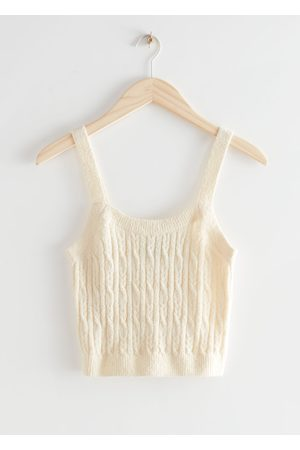 & OTHER STORIES Cable Knit Tank Top