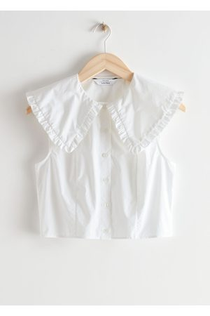 & OTHER STORIES Ruffle Collar Button Up Top