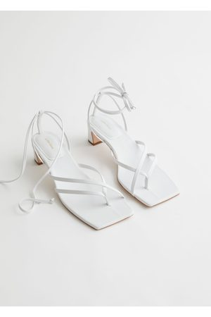 & OTHER STORIES Thong Strap Heeled Leather Sandals