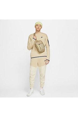 Nike Tech Fleece Taped Jogger Pants in Off- /Beach Size Small Cotton/Polyester/Fleece
