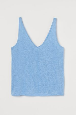 H&M Women Tank Tops - Linen Tank Top