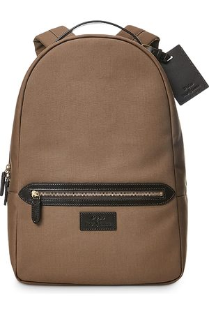 Polo Ralph Lauren Leather Trim Canvas Backpack