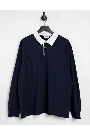 Weekday Gabriel Rugby Polo in Navy