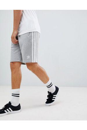 adidas Adicolor three stripe Shorts in gray-Grey